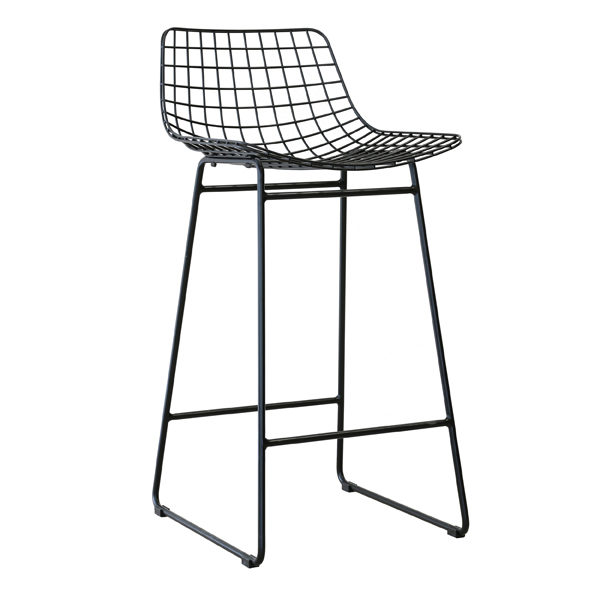 HK_SI2_BAR STOOL MADE OF BLACK PAINTED WIRE_42x47x89cm €199