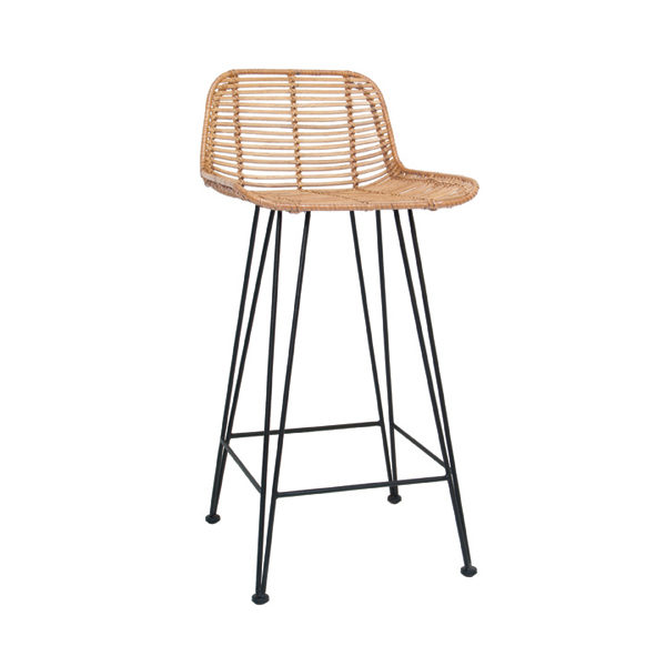 HK_SI2_HAND BRAIDED RATTAN BAR STOOL_BLACK_LEGS NATURAL METAL_42x47x89cm_€199 2