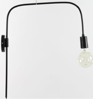 PMX_LI6_ILENA WALL LAMP_BLACK_METAL_47x11x56cm_ € 41.50