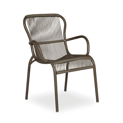 LOOP DINING CHAIR ROPE_TAUPE_POLYPROPYLENE WICKER_87x47x65cm