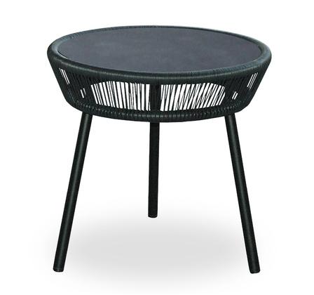 LOOP SIDE TABLE_BLACK_ALUMINIUM TOP_DIAM 51cm H 51cm