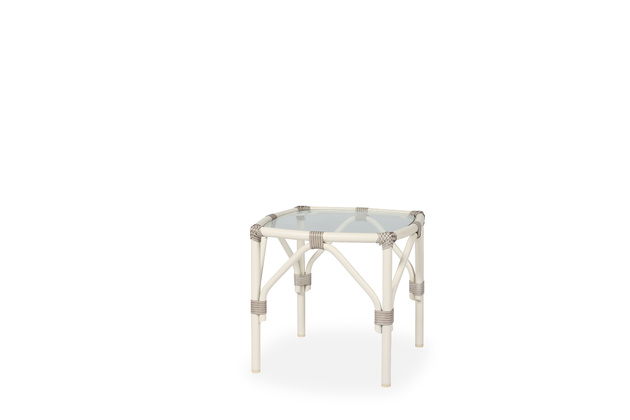 LUCY SIDE TABLE SMALL_OFF WHITE_POLYETHYLENE WICKER_41x46x46cm