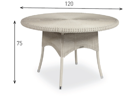 SAFI DINING TABLE_POLYETHYLENE RESIN_DIAM 120cm H 75cm