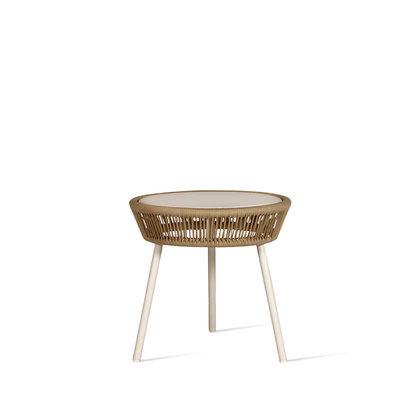 SIDE TABLE LOOP ROPE_BEIGE_H51 DIAM51cm_ ALU_THERMOPLASTIC POLYPROPYLENE