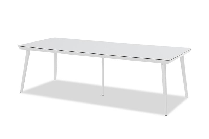 DINING TABLE SOPHIE STUDIO_WHITE_HPL TOP_ALUMINIUM_75x240x100cm