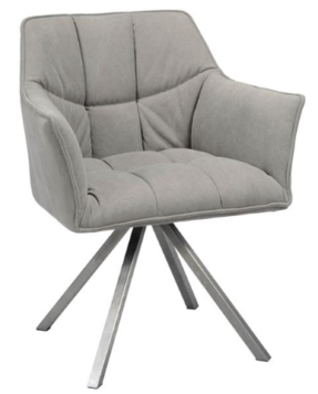 ARMCHAIR ROTATABLE JEANS_ANTHRACITE_FABRIC_STEEL_81x63x58cm