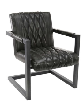ARMCHAIR WASHED_ANTHRACITE_PU_METAL_81x62x71cm_Gallery
