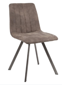 DINING CHAIR STITCH_TAUPE_FABRIC_STEEL_87x45x56cm