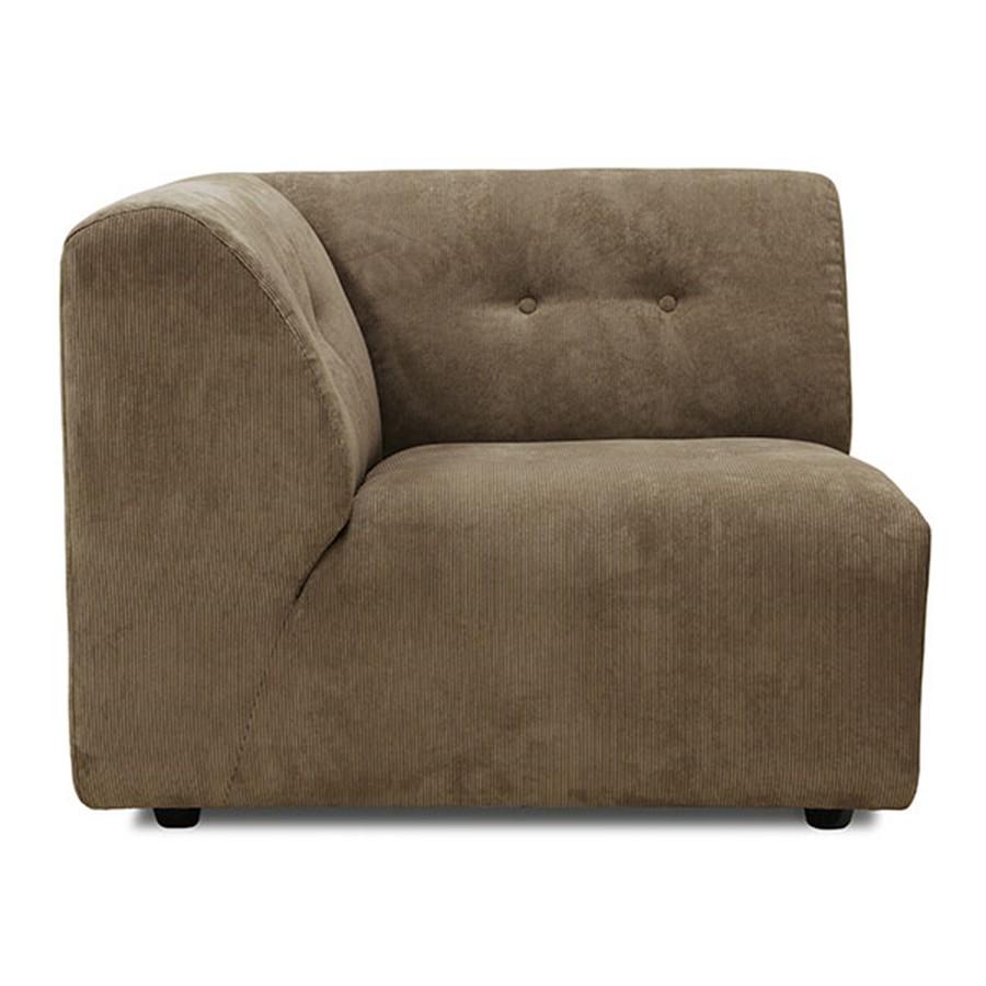 Sofa Vint Couch | Brown | Modular Left - Ma Maison Algarve