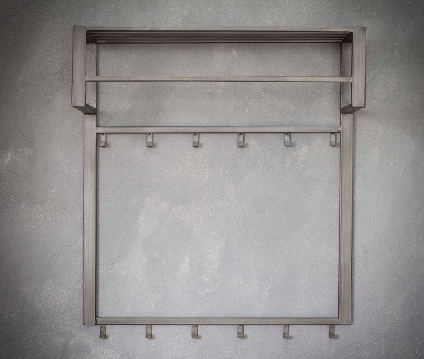 COAT RACK STEEL 2 x 6 HOOKS_SILVER_STEEL_89x80x30cm_Gallery