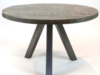 DINING TABLE DIAM 120_CLAY ANTIQUE_MANGO_STEEL_H77 Diam 120cm_Gallery1