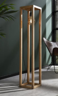 FLOOR LAMP 120x25x25cm_NATURAL_MANGO WOOD