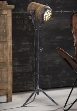 FLOOR LAMP MANGO L_NATURAL_GREY_MANGO WOOD_METAL_96x36x36cm