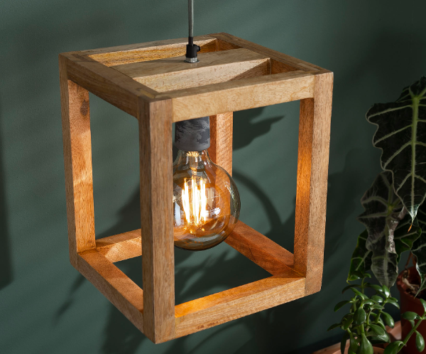 PENDANT LAMP WOOD_NATURAL_MANGO WOOD_150x25x25cm