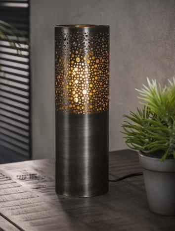 TABLE LAMP DIAM 10_BLACK_NICKEL_H30 diam 10cm