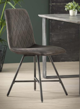 DINING CHAIR VELVET_STEEL_ANTHRACITE_88x54x46cm