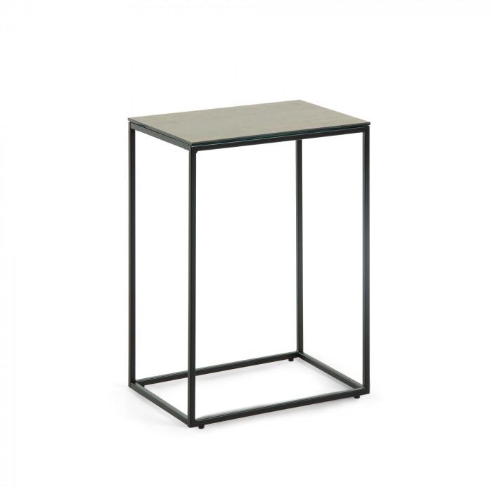 SIDE TABLE RENEE_BROWN_BLACK_CERAMICS_STEEL_59x45x30cm