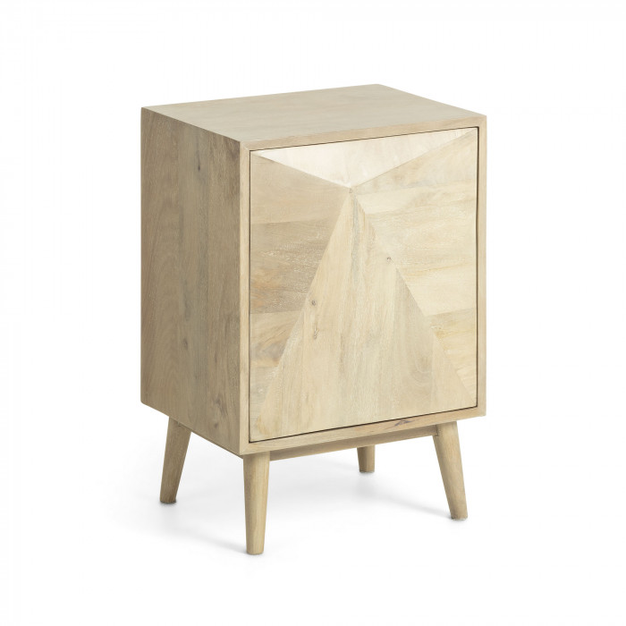 BEDSIDE TABLE SANVY_NATURAL_MANGO WOOD_60x42x34cm
