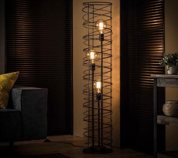 FLOOR LAMP CIRCLES_CHARCOAL_METAL_H140 diam 28cm