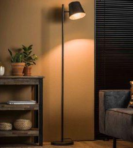 FLOOR LAMP CONICAL_CHARCOAL_METAL_157x37x18cm