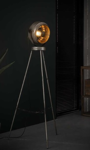 FLOOR LAMP OLD SILVERY_METAL_H133 diam 50cm
