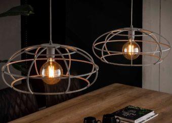 HANIGNG LAMP 2 x diam 50cm_GREY_IRON_ 150x130x55cm