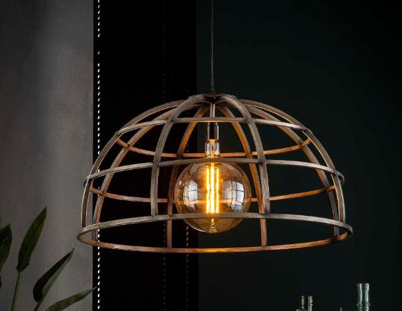 PENDANT LAMP diam 50-70_SILVER_IRON_H150 diam50_70cm