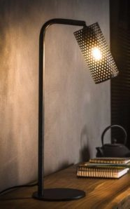 TABLE LAMP HOLES H53_CHARCOAL_METAL_53x15x30cm