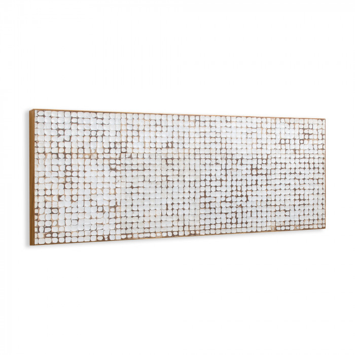 WALL HEADBOARD KOKO_WHITE_NATURAL_COCONUT TILES_60x104x6cm