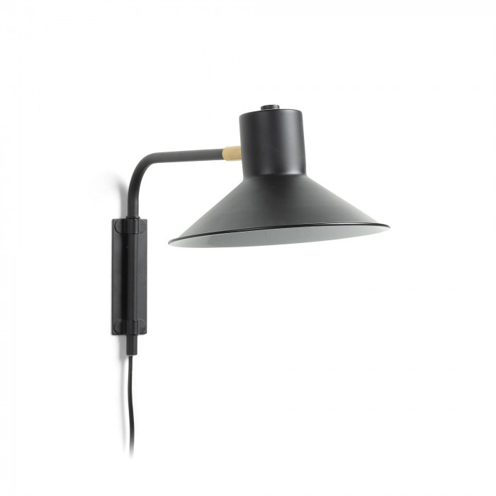 WALL LAMP PLASS_BLACK_METAL_24x20x36cm