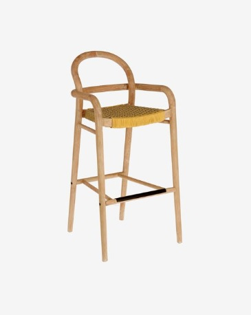 BAR CHAIR SHELBY_MUSTARD_EUCALYPTUS_ROPE_110x54x56cm