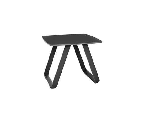 SIDE TABLE ALDEIA_ANTHRACITE_ALUMINIUM_POLYPROPYLENE_H38 45x45cm