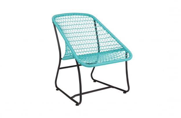 CHAIR VIGO_TURQUOISE_BLACK_METAL_PE_76,5x60x70cm_gallery