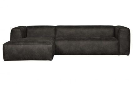 SOFA BEAN CORNER LEFT_ECO LEATHER_BLACK_73x305x96-175cm